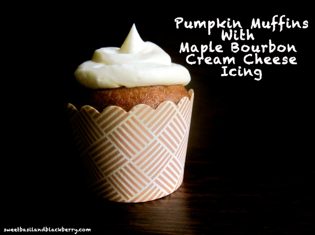 Pumpkin Muffins with Maple Bourbon Cream Cheese Icing ...