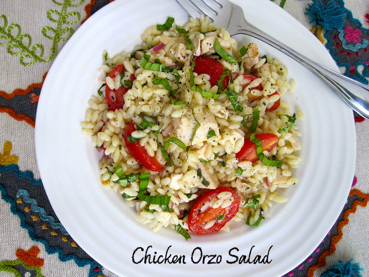 chicken orzo salad #1